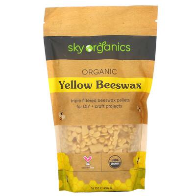 Купить Sky Organics Organic Yellow Beeswax, 16 oz (454 g)