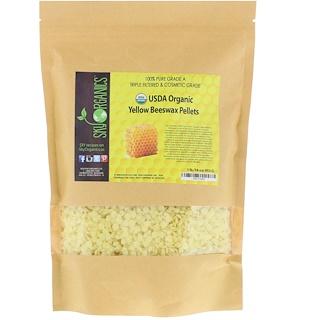 Sky Organics, オーガニック、イエロー蜜蝋ペレット、16オンス (453 g)