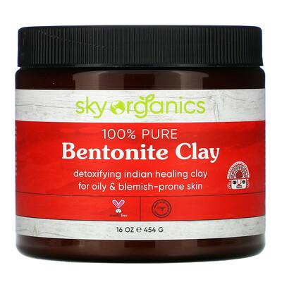 Купить Sky Organics Indian Healing Clay, 100% Pure and Natural Grade A, 16 oz (454 g)