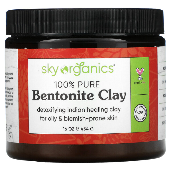 100% Pure Bentonite Clay, 16 oz (454 g)