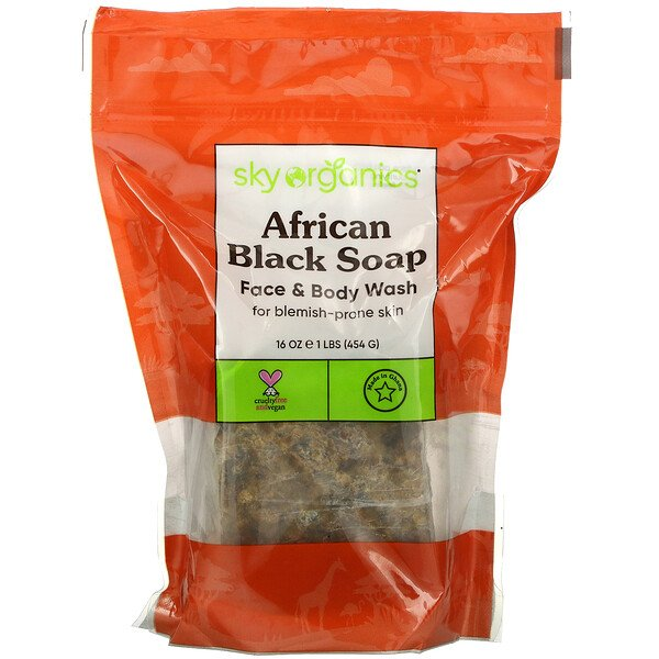 African Black Soap, 16 fl oz (454 g)