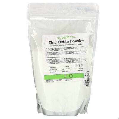 Купить Sky Organics Zinc Oxide Powder, 16 oz (454 g)