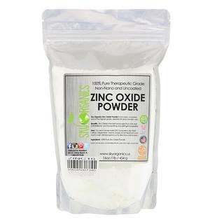 Sky Organics, 100%純粋な治療用グレード、酸化亜鉛粉末、16 oz (454 g)