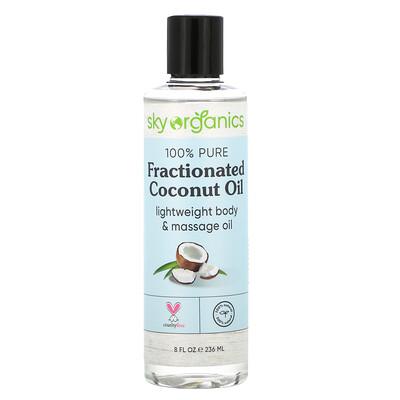 Купить Sky Organics 100% Pure Fractionated Coconut Oil, 8 fl oz (236 ml)