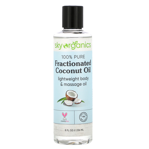 100% Pure Fractionated Coconut Oil, 8 fl oz (236 ml)