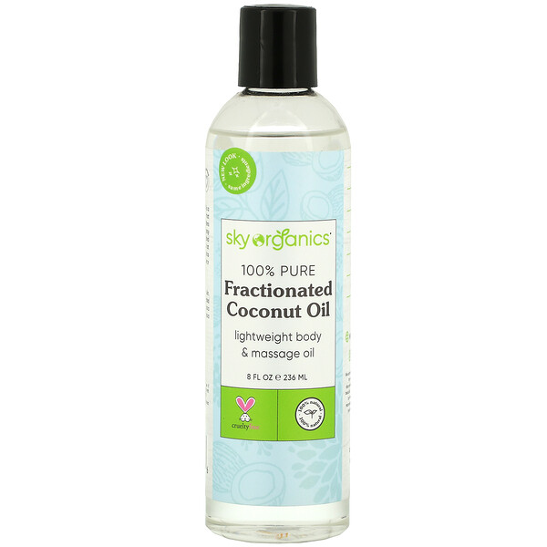 100% Pure Fractionated Coconut Oil, 8 fl oz (236 ml)