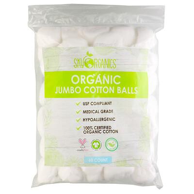 Купить Sky Organics Organic Jumbo Cotton Balls, 60 Count