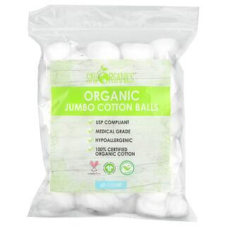 Sky Organics, Organic Jumbo Cotton Balls, 60 Count