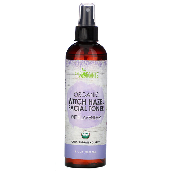 Organic Witch Hazel Facial Toner with Lavender, 8 fl oz (236.58 ml)