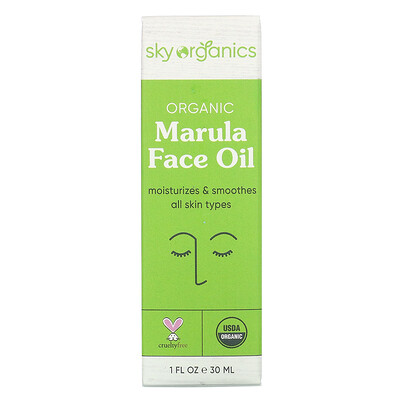 Купить Sky Organics Organic Marula Face Oil, 1 fl oz (30 ml)
