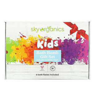 Sky Organics, Kids Bath Bomb Gift Set, 6 Bath Fizzies отзывы