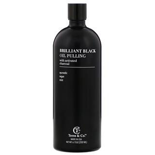 Terra & Co., Brilliant Black Oil Pulling, Mint, 6.75 oz (200 ml)