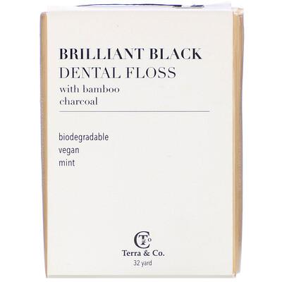 Купить Terra & Co. Brilliant Black, зубная нить, 29, 3 м (32 ярда)