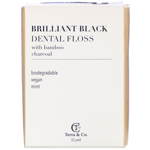 Brilliant Black Dental Floss, 32 Yards