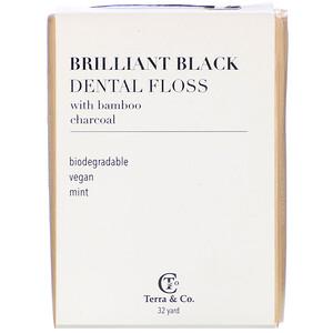 Terra & Co., Brilliant Black Dental Floss, 32 Yards отзывы