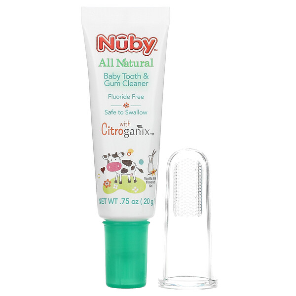 All Natural Baby Tooth & Gum Cleaner, 0m+, Vanilla Milk Flavored Gel, 0.75 oz (20 g)