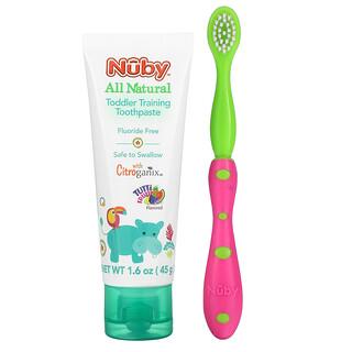 Dr. Talbot's, Toddler Training Toothpaste with Toothbrush, 6 m+, Tutti Frutti, 2 Piece Set