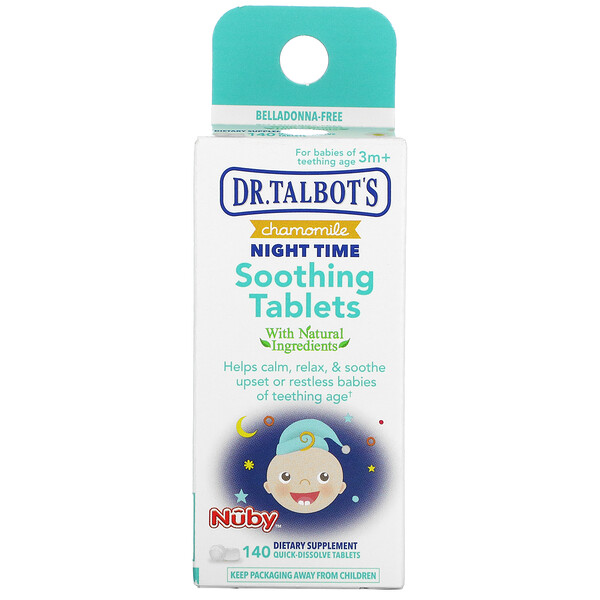 Dr. Talbot's, Chamomile Night Time Soothing Tablets, 3 m+, 140 Tablets