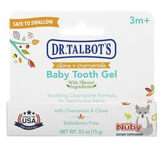 Dr. Talbot's, 嬰兒潔牙凝膠,丁香 + 洋甘菊味,3 個月以上,0.53 盎司(15 克)