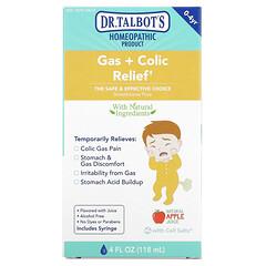 Dr. Talbot's, 胃脹氣 + 絞痛緩解,0-4 歲,天然蘋果汁味,4 液量盎司(118 毫升)