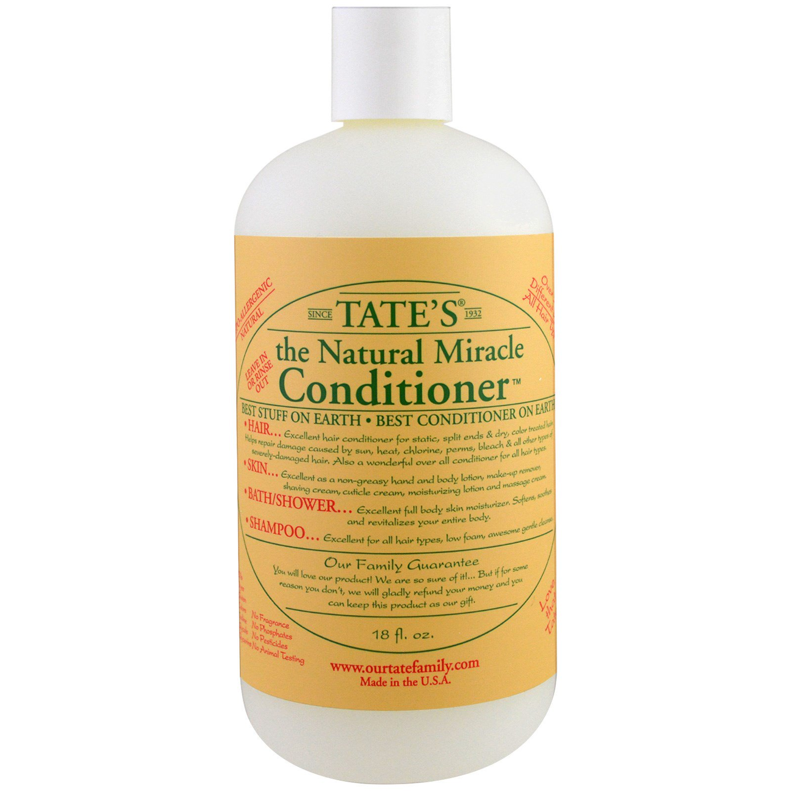 Tate's,  Natural Miracle Conditioner, 18 ж. унц.
