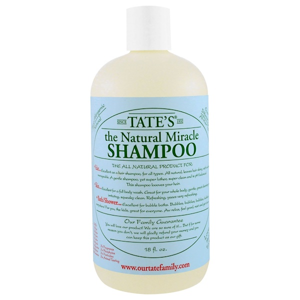 Tate's, The Natural Miracle Shampoo, 18 fl oz (Discontinued Item)