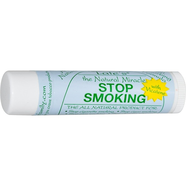 Tate's, The Natural Miracle Stop Smoking Lip Balm, 4.25g (Discontinued Item)