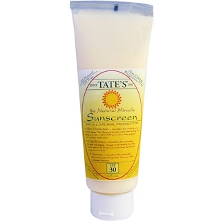 Tate's, The Natural Miracle Sunscreen, SPF 30, 4 fl oz