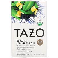 Tazo Teas, Organic Earl Grey Noir, Black Tea, 20 Tea Bags, 1.76 oz (50 g)