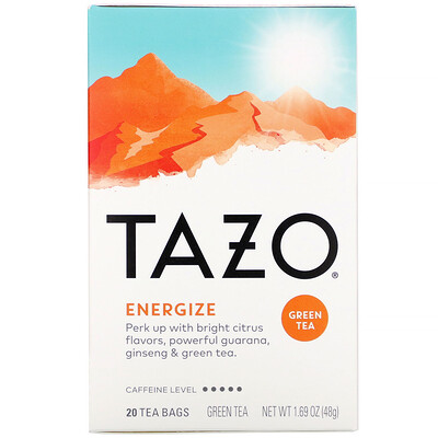Купить Tazo Teas Energize, Green Tea, 20 Tea Bags, 1.69 oz (48 g)
