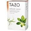Tazo Teas, ハーバルティー, リフレッシュミント, カフェインフリー, 20 フィルターバッグ, 0.8oz (24 g)