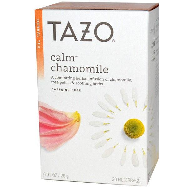 Tazo Teas, Herbal Tea, Calm Chamomile, Caffeine-Free, 20 Filterbags, 0.91 oz (26 g)