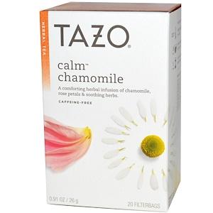 Tazo Teas, Травяной чай, Успокаивающая ромашка, Без кофеина, 20 фильтр-пакетов, 0,91 унции (26 г) инструкция, применение, состав, противопоказания