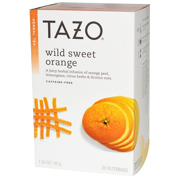 Tazo Teas, Wild Sweet Orange, Herbal Tea, Caffeine-Free, 20 Filterbags, 1.58 oz (45 g) (Discontinued Item)