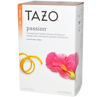 Tazo Teas, Passion, Herbal Tea, Caffeine-Free, 20 Filterbags, 1.8 oz (52 g)
