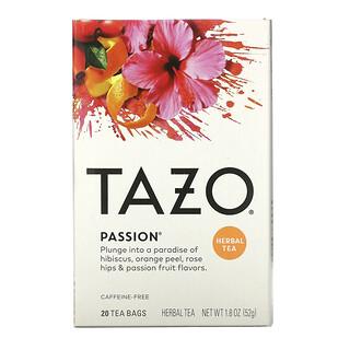 Tazo Teas, Herbal Tea, Passion, Caffeine-Free, 20 Tea Bags, 1.8 oz (52 g)