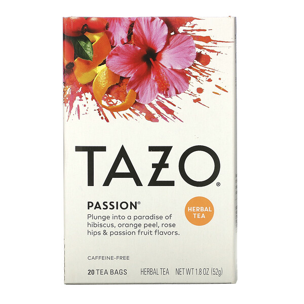 Herbal Tea, Passion, Caffeine-Free, 20 Filterbags, 1.8 oz (52 g)