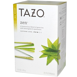 Tazo Teas, Zen, Green Tea, 20 Filterbags, 1.5 oz (43 g)
