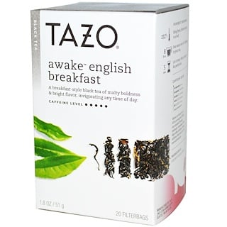 Tazo Teas, Té Negro English Breakfast Awake, 20 Bolsitas, 1.8 oz (51 g)