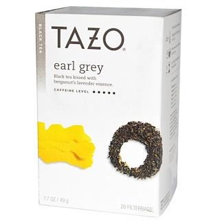 Tazo Teas, Черный чай с бергамотом, 20 пакетиков, 1,7 унции (49 г)