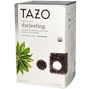Tazo Teas, Органический Дарджилинг, черный чай, 20 пакетиков с фильтром, 1,6 унции (46 г) инструкция, применение, состав, противопоказания