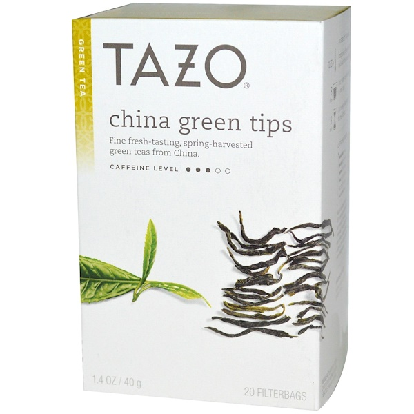 Tazo Teas, China Green Tips, Green Tea, 20 Filterbags, 1.4 oz (40 g)