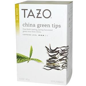 Tazo Teas, Китайский зеленый чай из верхних листьев, 20 фильтрующих пакетиков, 1.4 унций (40 г) инструкция, применение, состав, противопоказания