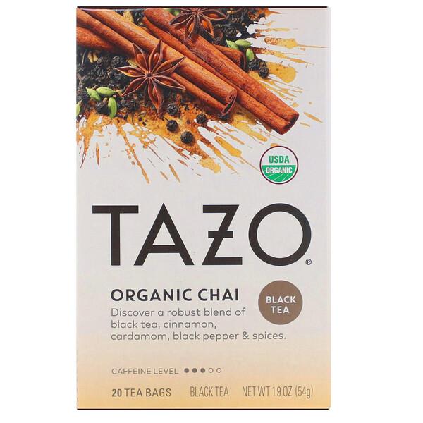 Tazo Teas, Organic Chai, Black Tea, 20 Tea Bags, 1.9 oz (54 g)
