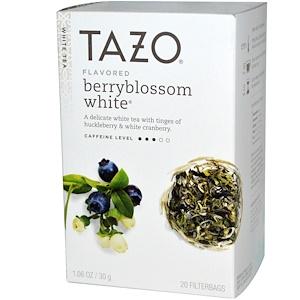Tazo Teas, Ароматизированный белый чай из ягодного цвета, 20 фильтр-пакетов, 1,06 унции (30 г) инструкция, применение, состав, противопоказания