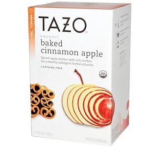 Tazo Teas, Органическое яблоко, запеченное с корицей, Растительный чай без кофеина, 20 фильтр-пакетов, 1,76 унции (50 г) инструкция, применение, состав, противопоказания