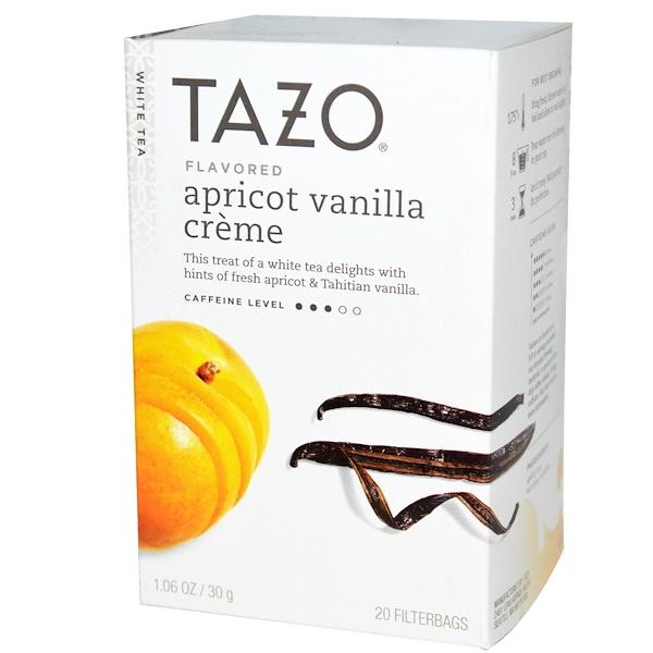 Tazo Teas, Apricot Vanilla Crème Flavored, White Tea, 20 Filterbags, 1.06 oz (30 g) (Discontinued Item)