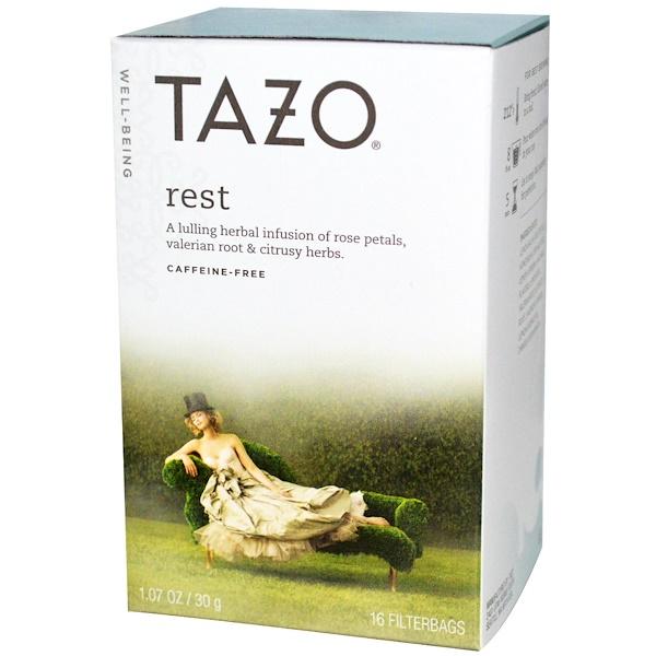 Tazo Teas, Чай Tazo «Отдохни» серии «Здоровье», без кофеина, 16 чайных пакетиков, 1,07 унции (30 г) (Discontinued Item)