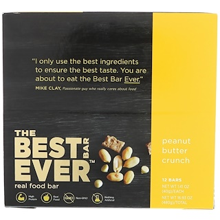Best Bar Ever, Peanut Butter Crunch, 12 Bars, 1.41 oz (40 g) Each