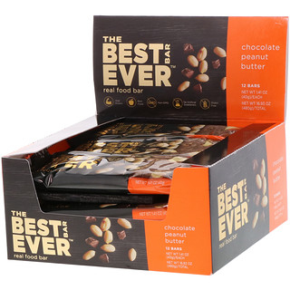 Best Bar Ever, Chocolate Peanut Butter, 12 Bars, 1.41 oz (40 g) Each